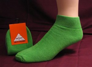 Mens Low Cut Ankle Sock Green Color Sport Gym Casual