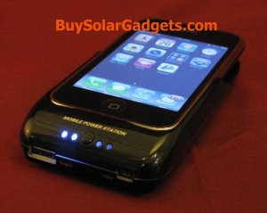 """Surge """"Hybrid"""" Solar Charger for iPhone 3G 3GS Black"""