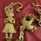 Antique Hindu Shrine Chain Solid Bronze GANESHA