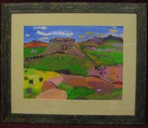 Arizona Desert folk art painted by David Baum