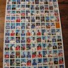 1990 Bowman uncut baseball card sheet-Board 5 & 6