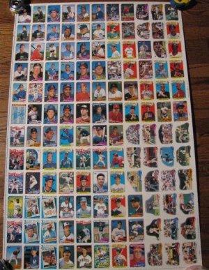 Rare 1989 TOPPS uncut baseball card sheet-Board 11 & 12