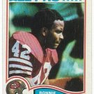 1982 Topps Football 49ers Ronnie Lott Rookie card # 486