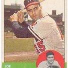 1963 TOPPS #347 JOE TORRE BRAVES BASEBALL CARD