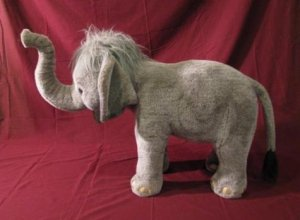 Standing Elephant Plush Stuffed Toy 32-1/2""