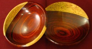 Bryan Nelson Hand Turned Wood Boxes lot of 2