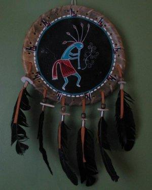 Native American Dream Catcher/ Buffalo Skin Drum