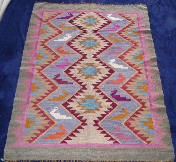 "Ayacucho handwoven peruvian wool tapestry 60""x 44"""