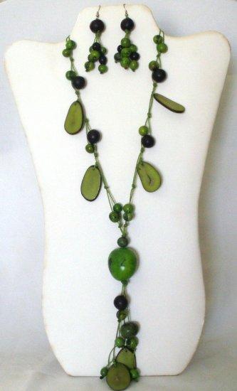 Tagua nut set - Green