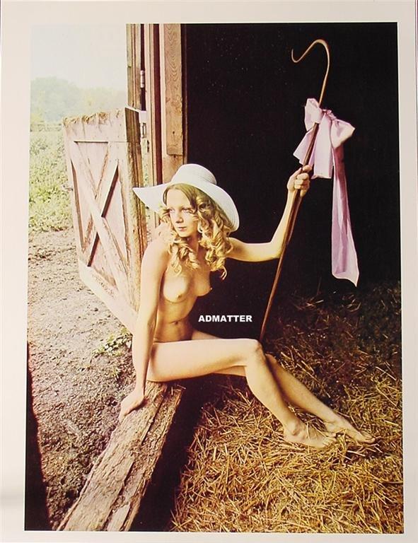 Vintage Nude Bo Peep Pinup Girl Topless Brown Amp Bigelow