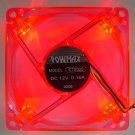 PowMax Typhoon 80 MM Case Fan with 4 Red LED lights