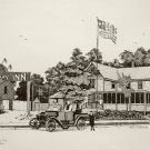 Print of Pen and Ink Drawing of Pandl's WFB Inn - formerly Bentley's 1889