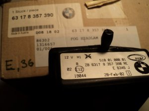 BMW 63 17 8 357 390 Fog Lamp Bracket R
