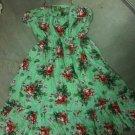 Green Flora Halter/Tube Dress