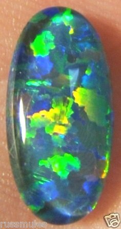 OPAL TRIPLET JEWELRY STONE FOR PENDANT OR RING   14x7mm