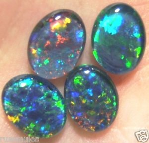 GEM OPAL TRIPLETS FOR RING OR NECKLACE STONES 4 - 9x7mm