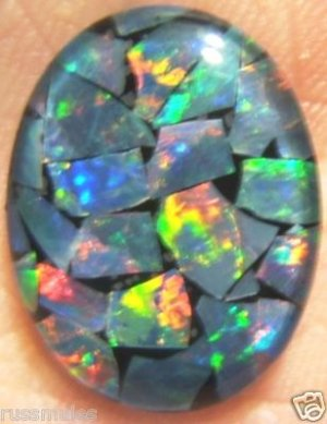 OPAL  MOSAIC TRIPLET FOR LARGE PENDANT OR RING 20x15mm