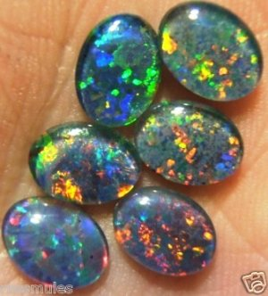 JEWELRY  OPAL TRIPLETS  FOR  RINGS  A grade  6of 8x6 mm