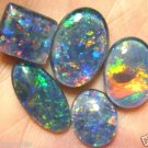 AUSTRALIAN OPAL TRIPLETS FOR RINGS OR PENDANTS 5pcs
