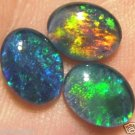 OPAL TRIPLETS  FOR  RINGS OR PENDANTS     3of- 9x7 mm