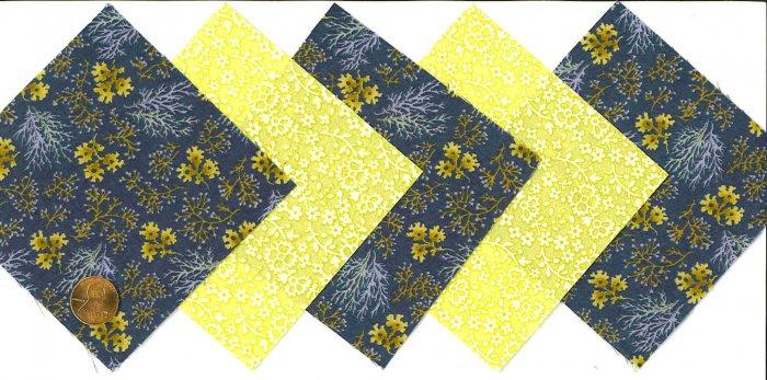 4 inch Fabric Quilt Squares Beachcomber Floral 20 sqs