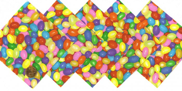 4 Inch Jelly Bean Fabric Quilt Squares Kit 20 sqs