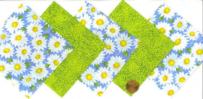 4 inch Fabric Quilt Squares Kit Daisy Daisies 20 sqs