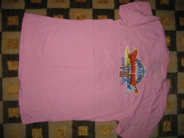 RETRO PROMO DRAGON QUEST VIII JOURNEY OF THE CURSED KING PINK SHIRT SIZE MEDIUM