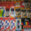LOT 135 BIC MECHANICAL PENCIL PENS PEN DRY ERASE WITE OUT PENTEL ERASERS SHARPIE