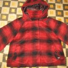 RARE LIMITED VICTORIA'S SECRET PINK RED BLACK PLAID COAT JACKET MEDIUM BOLERO