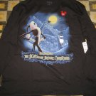 NIGHTMARE BEFORE CHRISTMAS SANTA JACK SKELLINGTON BLACK LONG SLEEVE MENS SHIRT