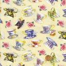 Shabby Rose Teacup Teacups Fabric Yardage Adorable