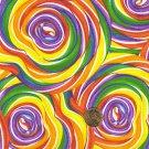 "I Spy 6 by 9 inch Sucker Lollipop Candy Sweets  Novelty Fabric 6"" x 9""  piece"