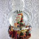 Santa Claus In Chimney Snow Globe Music Box Trimmed Christmas Decoration tblbs