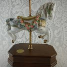 Carousel Collection 2nd Edition Love Story Music Box White Horse Floral