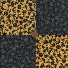 Halloween Owl Witch Pumpkin Bat Moon Cat Fabric Squares  Blocks sz1