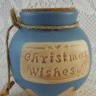 GANZ Christmas Wishes Jar Ceramic Cork Fund Money Change Savings Bank tblhq1