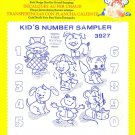 Aunt Martha's Iron on Transfer Kids Number Sampler 3927 Embroidery Sewing ZDS1