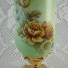 Vintage Shabby Rose Vase Delicate Bouquet Flowers Cup Goblet Collectible tblhq1