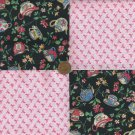 Breast Cancer Teacups Ribbons Cotton Fabric Craft  Squares  zk1