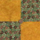 Golden Style  Cotton Fabric Quilt Square Craft Charms  CK
