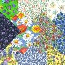 I Spy Flower Floral  Assortment  Fabric Novelty Multi Square FA Set 3C
