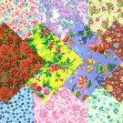 I SPY NOVELTY Flowers  Assortment Fabric Novelty Quilt Square  JS1-88