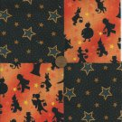 Halloween Trick or Treat on a Starry Night Cotton Novelty Fabric Squares  sz1