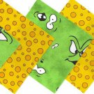 20 4 inch Bubbles and Burps 100% Cotton Fabric Quilt Squares OSR5