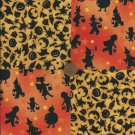 Trick or Treat All Things Halloween Orange Craft Fabric Squares Blocks sz1