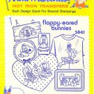 Aunt Martha's Iron On Floppy Eared Bunnies 3841 Sewing ZDS1 0 43272 00100 9