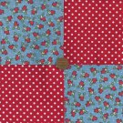 Sweetheart Dots 4 inch Fabric Quilt Craft Squares CK