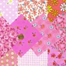 I SPY Flower Assortment All Pink background  Fabric Novelty Quilt Square LW1 PB