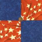 Red White Blue 100% Cotton Fabric Squares Patriotic Quilting LP1